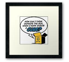 I work in a cube Framed Print