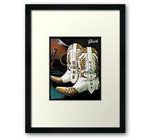 Hank Williams Boots Framed Print