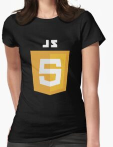 javascript computer Womens Fitted T-Shirt