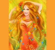 Fantasy Beautiful fairy woman autumn. nature. fashion portrait Unisex T-Shirt
