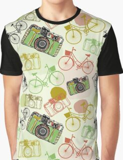 Vintage camera and bicycles Graphic T-Shirt