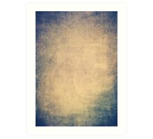 Blue and orange romantic grungy background texture with scratches Art Print