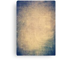 Blue and orange romantic grungy background texture with scratches Canvas Print
