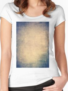 Blue and orange romantic grungy background texture with scratches Women's Fitted Scoop T-Shirt