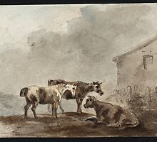 Sawrey Gilpin  Title A Horse and Two Cows near a Farm Building by Adam Asar