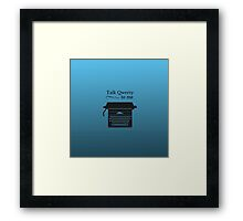 Funny Geeky Typewriter Framed Print