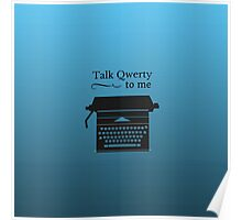 Funny Geeky Typewriter Poster