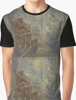 Vincent Van Gogh - Night after Millet, 1889 Graphic T-Shirt