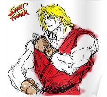 Streetfighter Ken Poster