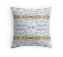 White and Gold by Stephanie Burns Throw Pillow