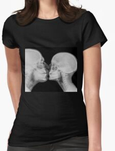 Kissing Couple. Two people kissing under x-ray  Womens Fitted T-Shirt