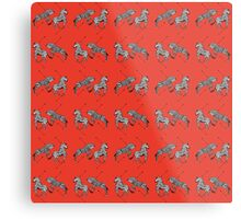 Pattern of The Royal Tenenbaums Metal Print