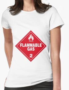 Flammable gas Womens Fitted T-Shirt