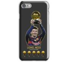 Lionel Messi Ballon D'or iPhone Case/Skin
