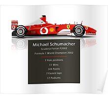 Michael Schumacher  - Ferrari F2002 - Geeky Stats Poster