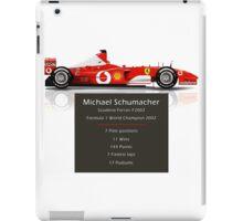 Michael Schumacher  - Ferrari F2002 - Geeky Stats iPad Case/Skin