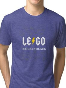 Brick in Black Tri-blend T-Shirt