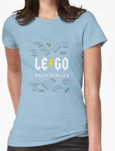Brick in Black Womens Fitted T-Shirt