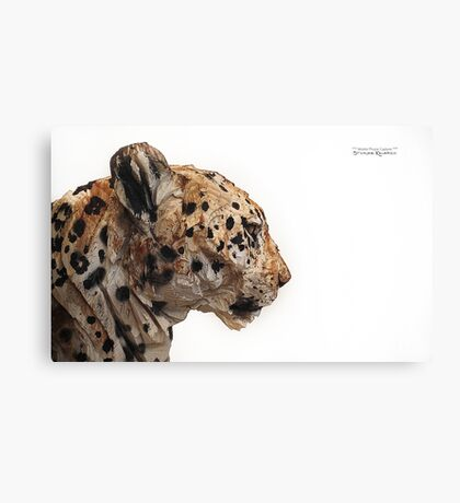 Wooden panther Canvas Print