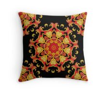 Seamless vector pattern with mandala ornament in indian style.  Throw Pillow