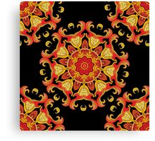 Seamless vector pattern with mandala ornament in indian style.  Canvas Print