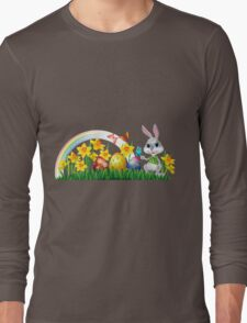 Easter Bunny With Eggs Long Sleeve T-Shirt
