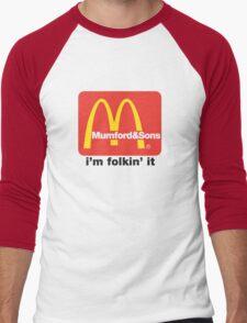 Mumford and Sons - i'm folkin' it Men's Baseball ¾ T-Shirt
