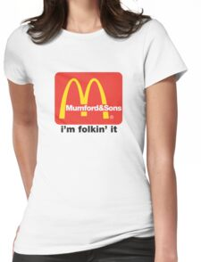 Mumford and Sons - i'm folkin' it Womens Fitted T-Shirt