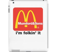 Mumford and Sons - i'm folkin' it iPad Case/Skin