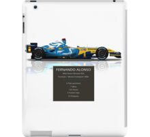 Fernando Alonso - Renault R26 - British Grand Prix - Geek Stats version iPad Case/Skin