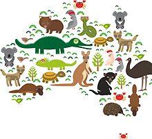 Australian animal map  by EkaterinaP