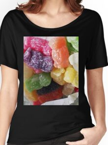 Jelly Babies in a white paper bag Women's Relaxed Fit T-Shirt