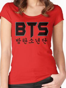 ♥♫BTS-Bangtan Boys K-Pop Clothes & Phone/iPad/Laptop/MackBook Cases/Skins & Bags & Home Decor & Stationary♪♥ Women's Fitted Scoop T-Shirt