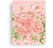 Rococo Wonderland: The Baby Pink Roses Canvas Print