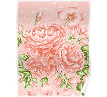Rococo Wonderland: The Baby Pink Roses Poster