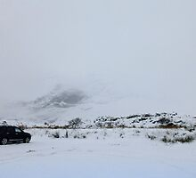 Snow and Cloud on Glencoe, Scotland by trish725