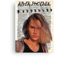 River Phoenix (Dictionary Paper) Canvas Print