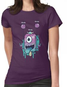 Flying Icecream Womens Fitted T-Shirt