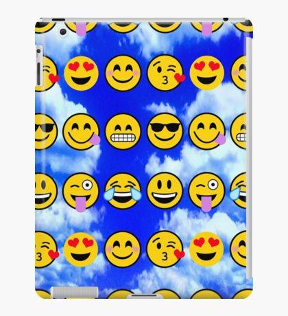 emoji Blue Sky Puffy Clouds  iPad Case/Skin