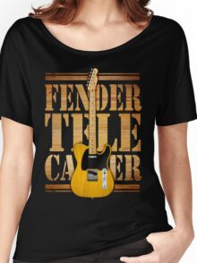 Telecaster Wood Type Women's Relaxed Fit T-Shirt