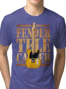 Telecaster Wood Type Tri-blend T-Shirt