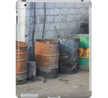 Colorful Barrels Next to a Wall iPad Case/Skin