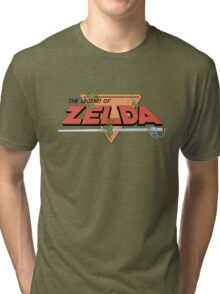 The Legend of Zelda - Classic Logo Tri-blend T-Shirt