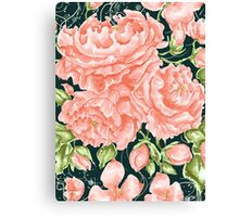 Rococo Wonderland: The Turquoise Roses Canvas Print