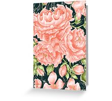 Rococo Wonderland: The Turquoise Roses Greeting Card