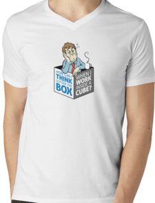I work in a cube Mens V-Neck T-Shirt