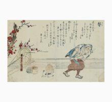 Hair Ties - Minko Tachibana - 1770 - woodcut Kids Tee