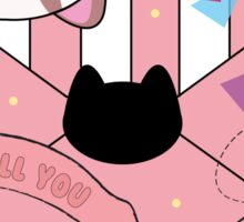 Puppycat Valentine Sticker