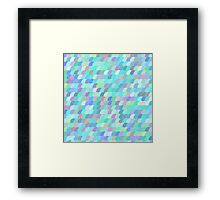 Colorful fish scale pattern Framed Print