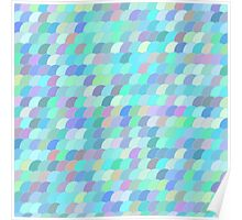 Colorful fish scale pattern Poster